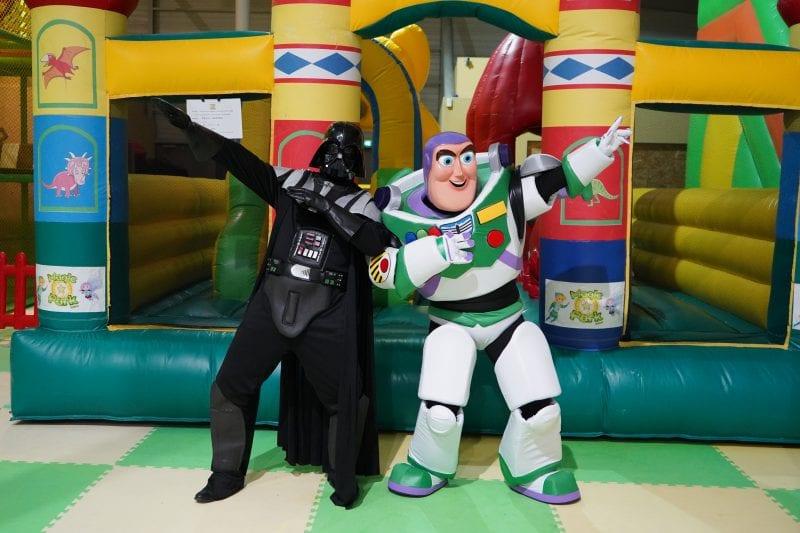Buzz & Dark Vador au Liberty Park de Terville